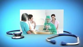 Montage av den medicinska personalen stock illustrationer
