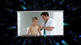 Montage av medicinska gem stock video
