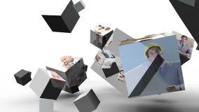 Montage av olika karriärer stock illustrationer