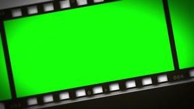 Montage av remsan för grön film vektor illustrationer