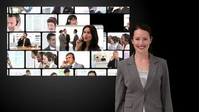 Montage of business communication stock video