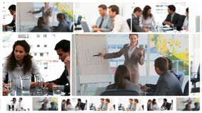 Montage of business meetings Royalty Free Stock Images