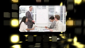 Montage about business meetings stock video