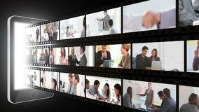 Montage of business people in different situations Royalty Free Stock Photos