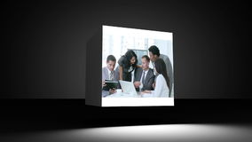 Montage of business people in the office Royalty Free Stock Photography
