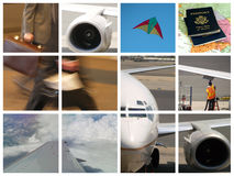 Montage of Business travel stock images