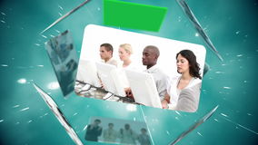 Montage of call centre workers Royalty Free Stock Photography