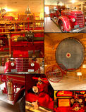 Vintage Fire Truck Montage collage Stock Image