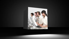 Montage of customer support representatives Royalty Free Stock Images