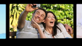 Montage of cute couples spending special time together Royalty Free Stock Image
