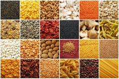 Montage d'ingrédients de nourriture Photo stock