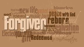Montage de mot indulgent par chrétien Images libres de droits
