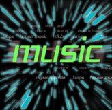 Montage de musique Image libre de droits