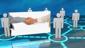Montage de relation d'affaires autour du monde banque de vidéos
