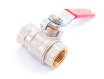 Montage de tuyauterie blanc - valve de l'eau photos stock