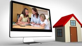 Montage der Familienzeit zu Hause stock video footage