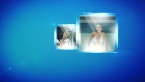 Montage der Frau im Swimmingpool stock video