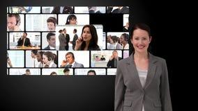 Montage der Geschäftskommunikation stock video