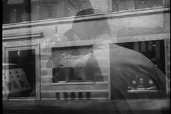 Montage der Polizeireviertätigkeit, dreißiger Jahre stock video footage