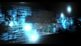 Montage der Wirtschaftsstatistik und der Darstellungen stock footage