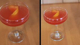Montage des frischen Cocktails auf Tabelle stock video footage