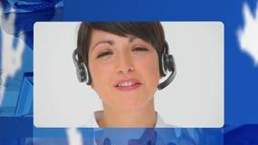 Montage des globalen Geschäfts und des Kundendiensts stock video footage