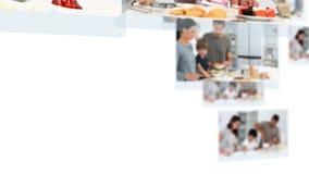 Montage des Kochens einiger Personen stock footage