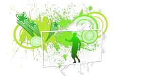 Montage des lebhaften Schirmes mit Schattenbildtanzen stock footage