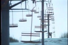 Montage des leeren Skiorts im Winter stock video footage