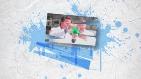Montage des Wissenschaftlerarbeitens stock video footage