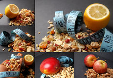 Montage of dieting concepts - Mixture Royalty Free Stock Photography