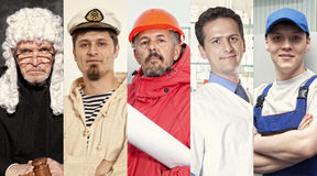 Montage about different professions Royalty Free Stock Photo