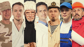 Montage about different professions Stock Image