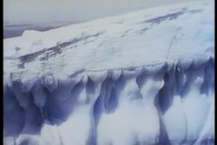 Montage - Eisberge in der Antarktis stock video