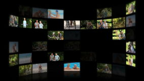 Montage of elderly couples relaxing Royalty Free Stock Photos