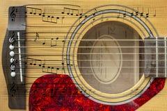 Montage för akustisk gitarr fotografering för bildbyråer