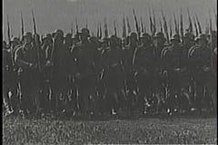 Montage för världskrig II, Adolf Hitler och tysk armé stock video