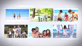 Montage Familys im Urlaub stock video