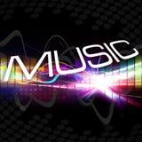 Montage génial de musique Images libres de droits