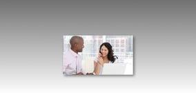 Montage-Gesamtlänge von Geschäftsleuten stock footage