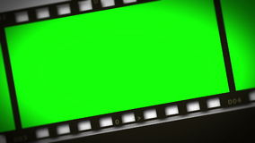 Montage of green film strip