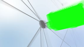 Montage of green screens on a futuristic plan stock footage