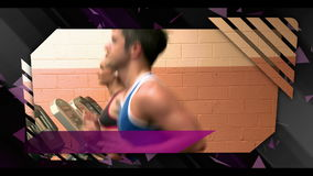 Montage of gym clips Royalty Free Stock Image