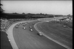 Montage - Indianapolis 500, 1940s stock video footage
