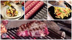 Montage international de cuisine clips vidéos