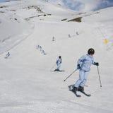 Montage - Mädchen downhiller lizenzfreies stockfoto