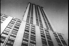 Montage - Manhattan skyscrapers, 1930s stock video