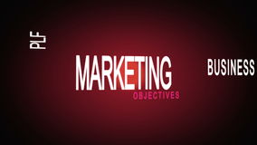 Montage of marketing business buzz words