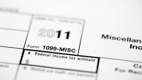 Montage of multiple macro shots of tax forms Royalty Free Stock Images