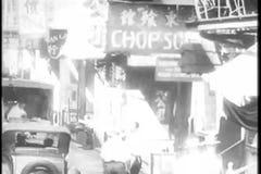 Montage - New York CIty's Chinatown, 1930s stock video